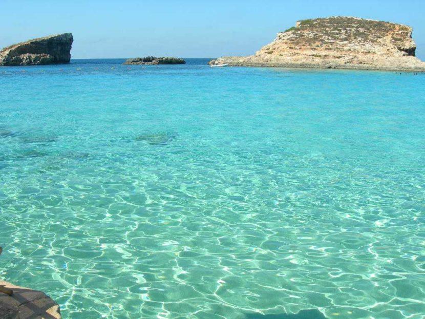 spiaggia bellissima del isola di malta