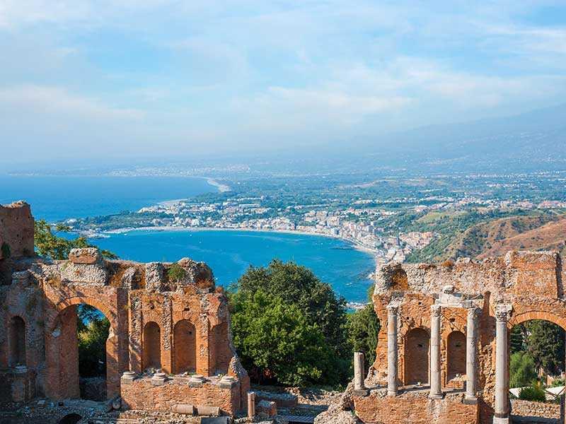 taormina panorama teatro greco